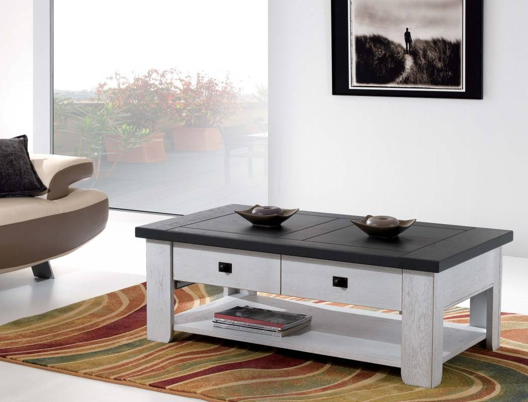 Meuble Table Basse Salon Table Basse Ronde Ovale Maisonjoffrois # Meuble De Salon En Boi Massif