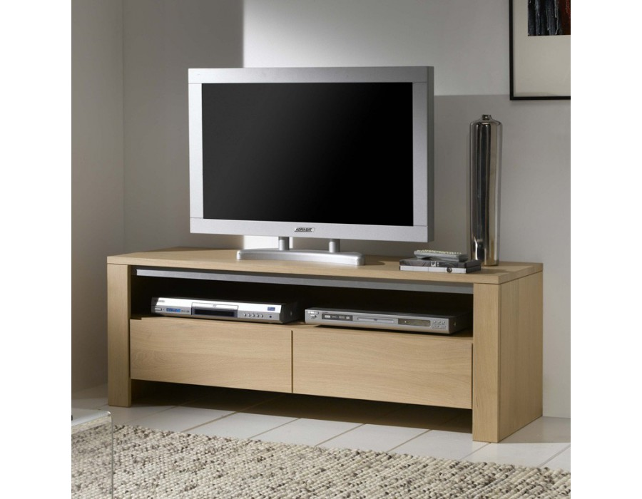 meuble tv en ch ne massif. Black Bedroom Furniture Sets. Home Design Ideas