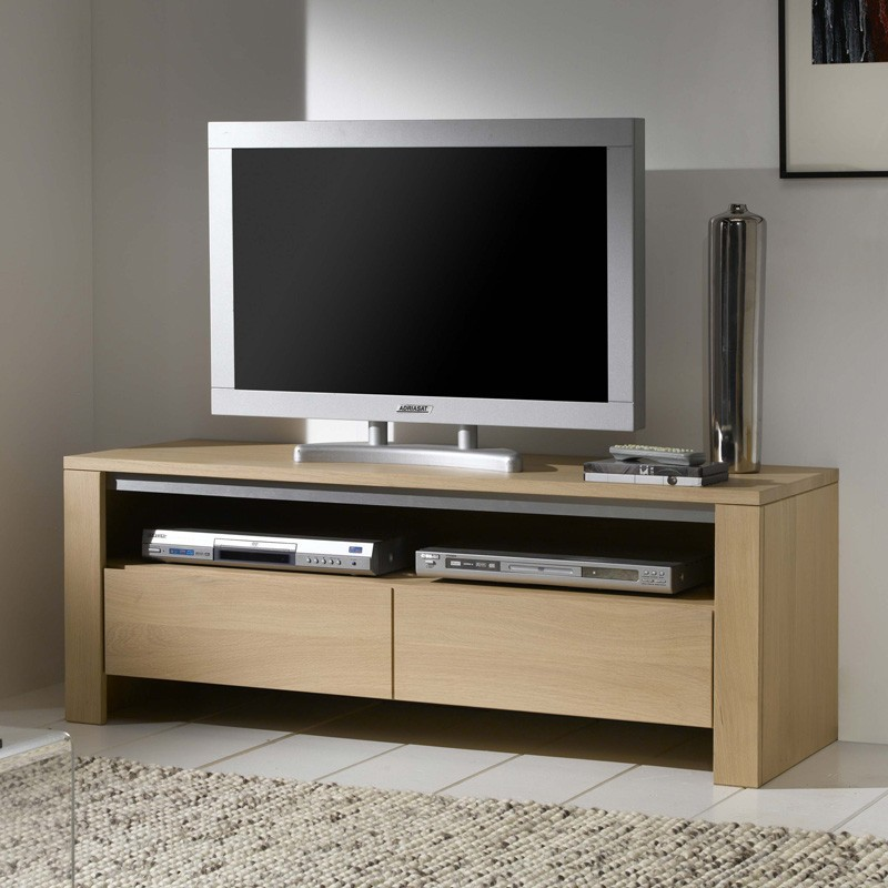 meuble tv chene massif contemporain. Black Bedroom Furniture Sets. Home Design Ideas