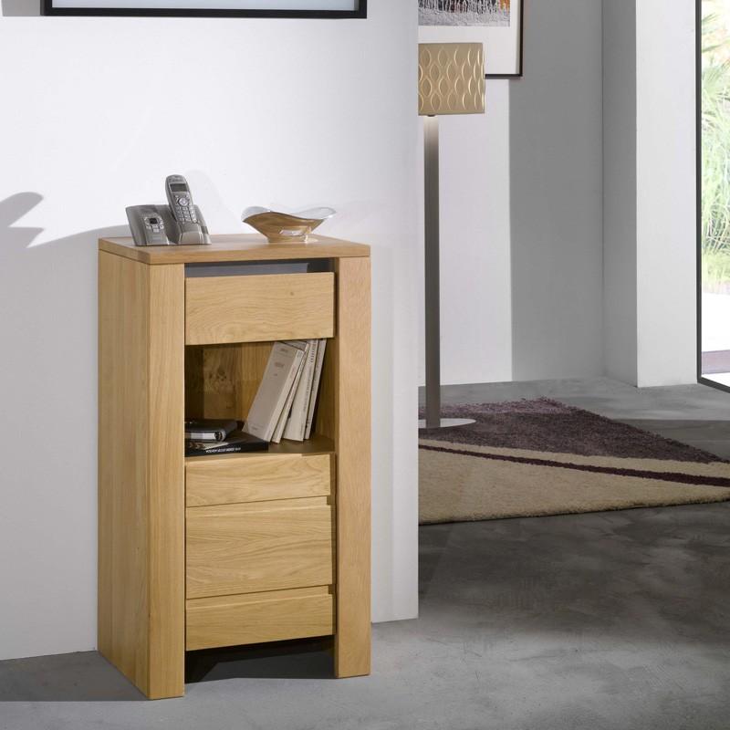 meuble de téléphone en chêne massif - Meuble Pour Telephone Design