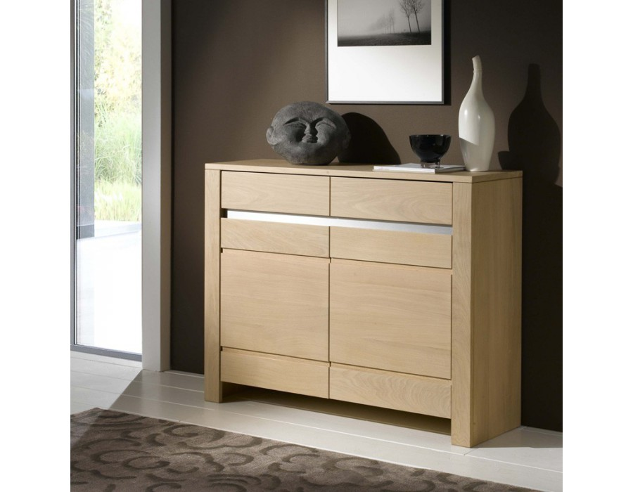 meuble d 39 entr e en ch ne massif yucca les ateliers de langres. Black Bedroom Furniture Sets. Home Design Ideas