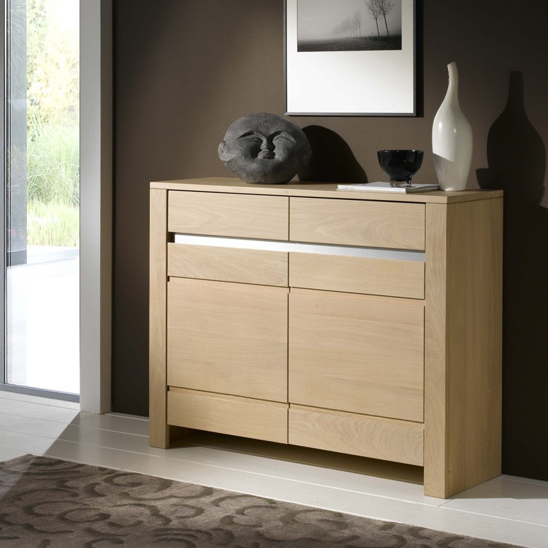 meuble d 39 entr e contemporain en ch ne massif. Black Bedroom Furniture Sets. Home Design Ideas