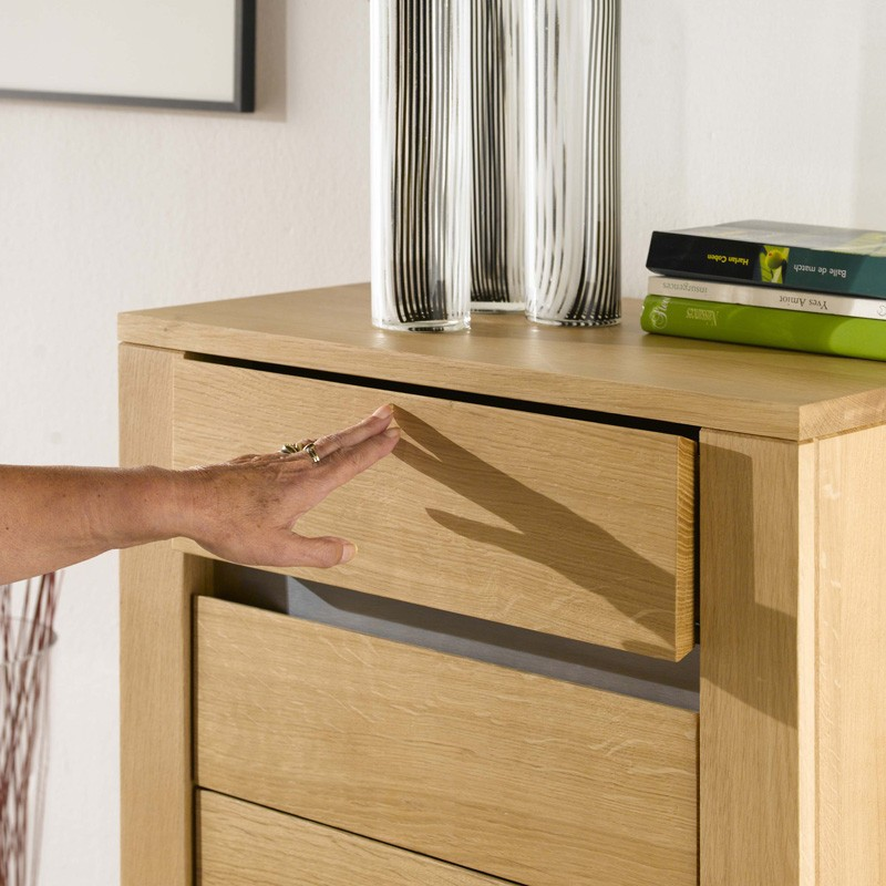 chiffonnier en ch ne massif. Black Bedroom Furniture Sets. Home Design Ideas