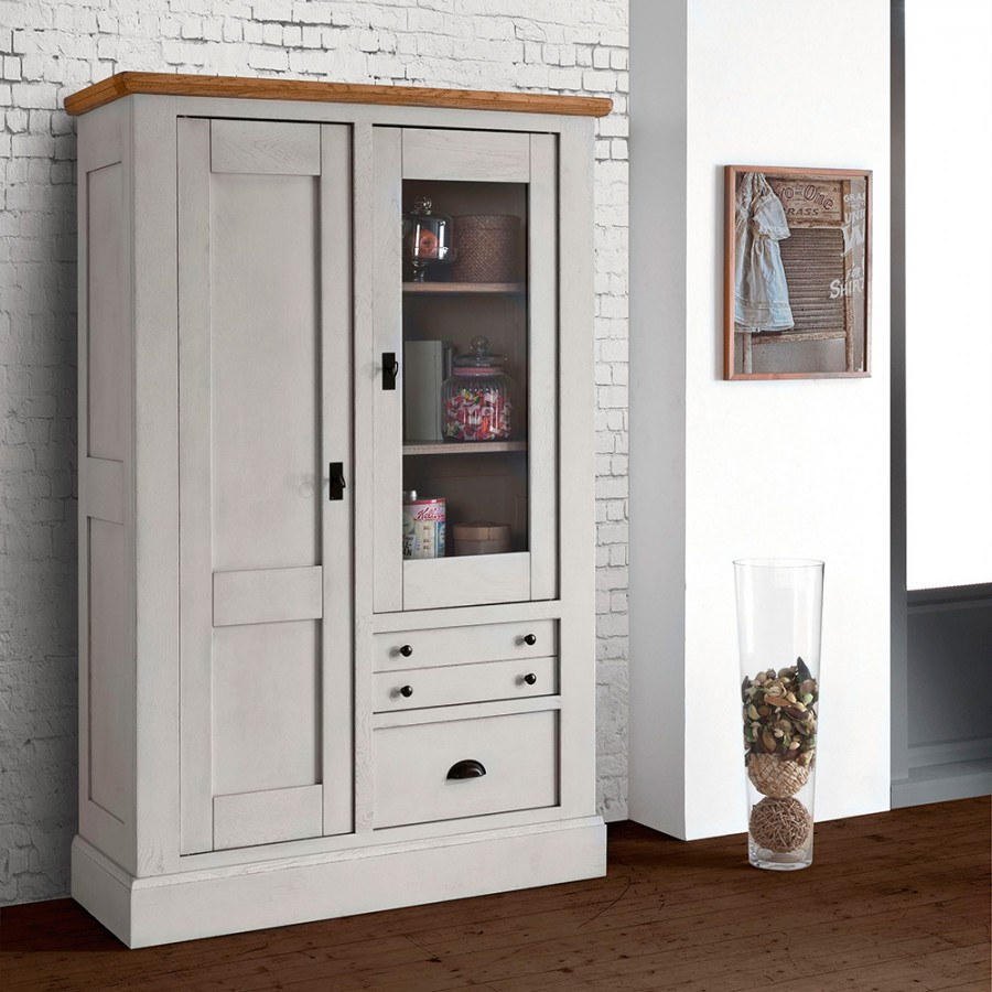 vitrine 1 porte romance meubles rigaud. Black Bedroom Furniture Sets. Home Design Ideas