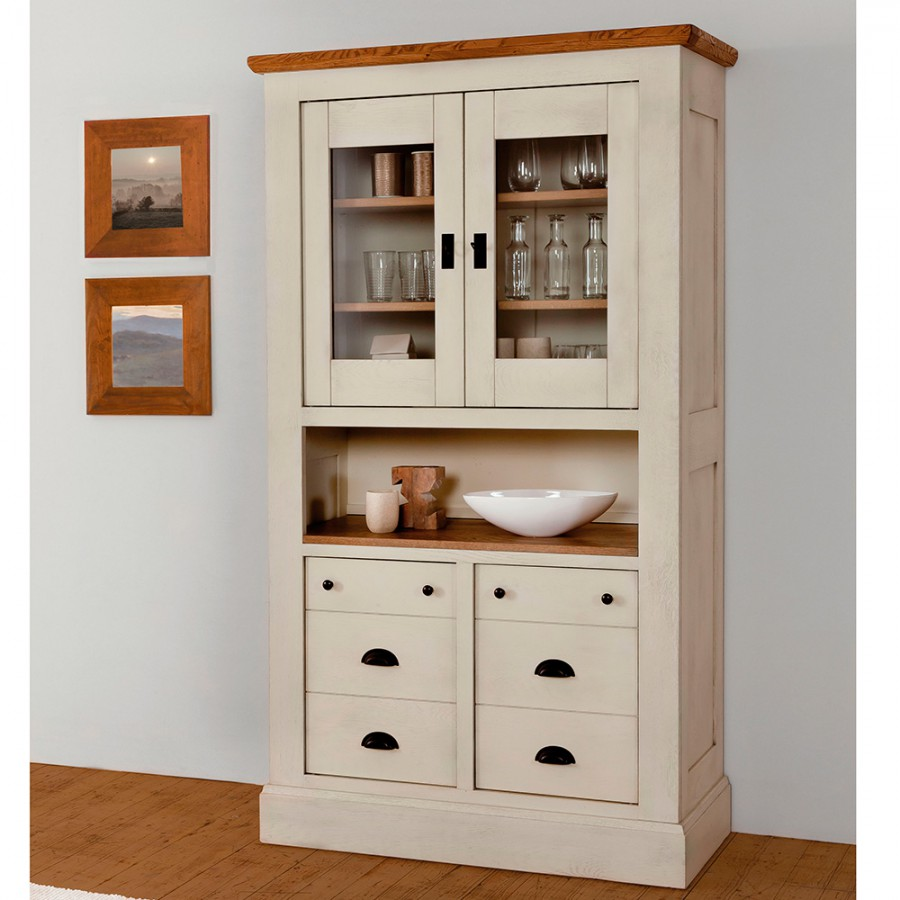 vitrine 2 portes vitr es romance meubles rigaud. Black Bedroom Furniture Sets. Home Design Ideas