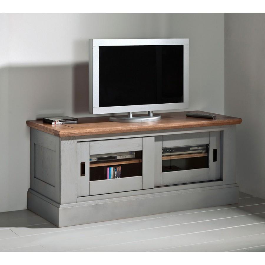 Meuble tv 2 portes coulissantes meubles rigaud for Meuble tv porte coulissante