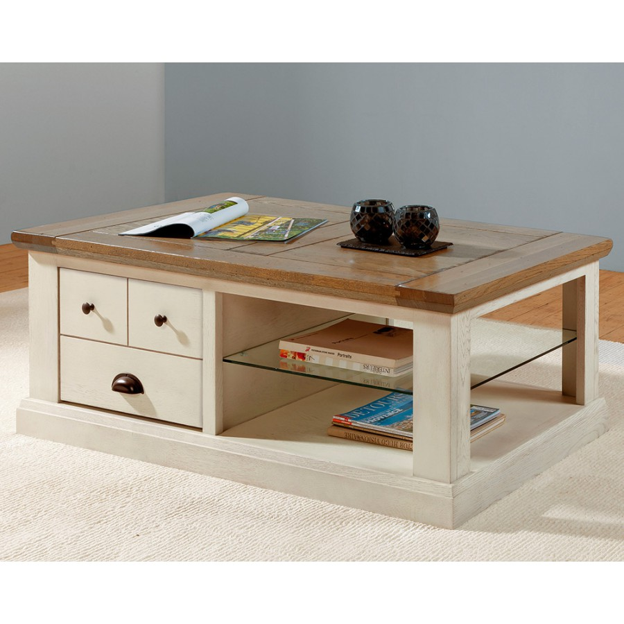 Table basse rectangle romance meubles rigaud - Table basse moderne divine collection ...
