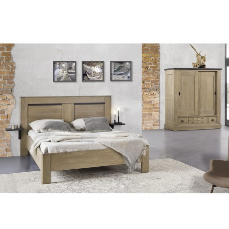 lit romance des ateliers de langres ch ne 100 massif. Black Bedroom Furniture Sets. Home Design Ideas