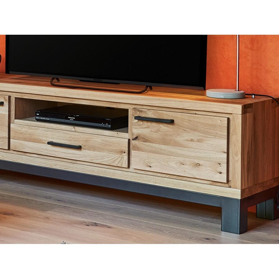 Grand meuble TV 2 portes Forest en chêne 100% massif