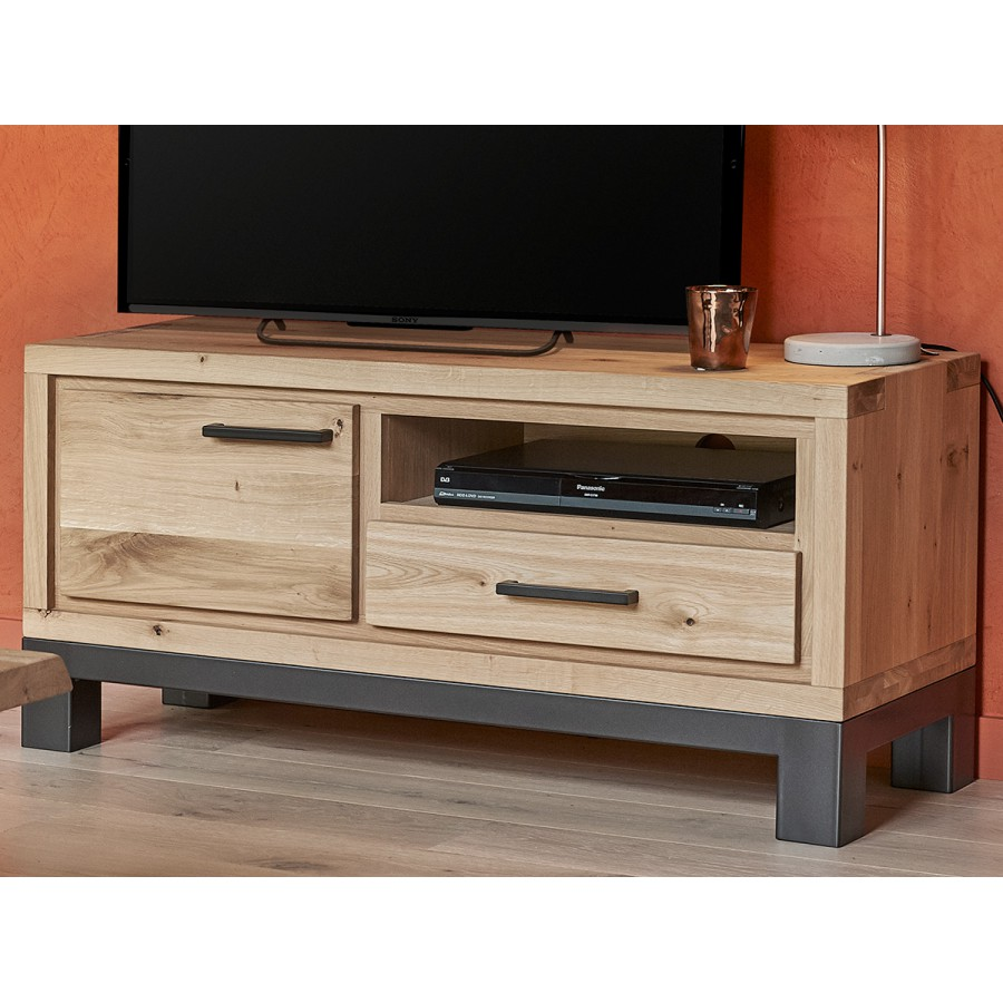 petit meuble tv 1 porte forest en ch ne 100 massif. Black Bedroom Furniture Sets. Home Design Ideas