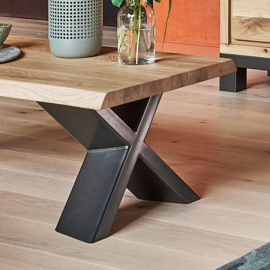 Table de salon plateau fixe 100 ch ne massif - Table basse moderne divine collection ...