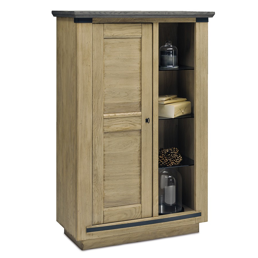 biblioth que magellan 1 porte 1 grande niche 100 ch ne massif. Black Bedroom Furniture Sets. Home Design Ideas