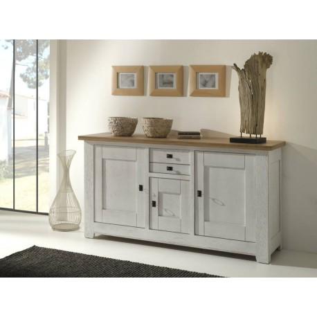 meubles bas whitney 3 portes en ch ne massif. Black Bedroom Furniture Sets. Home Design Ideas