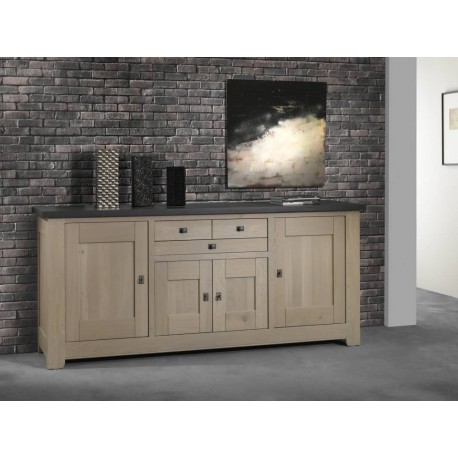 bahut bas enfilade 4 portes 2 tiroirs whitney. Black Bedroom Furniture Sets. Home Design Ideas