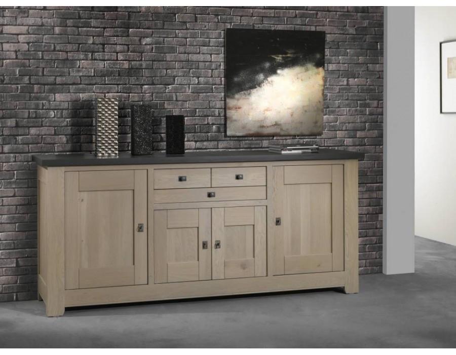 bahut bas enfilade 4 portes 2 tiroirs whitney. Black Bedroom Furniture Sets. Home Design Ideas