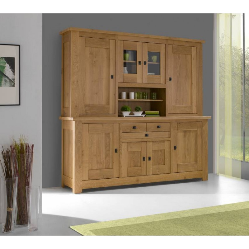 vaisselier 4 portes whitney ch ne massif. Black Bedroom Furniture Sets. Home Design Ideas