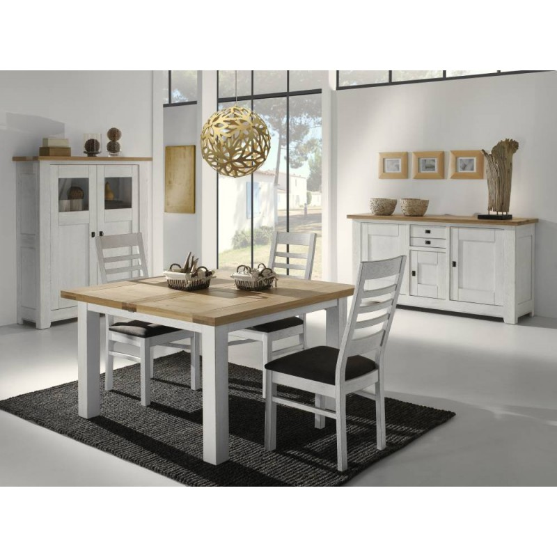 Delightful table salle a manger carree blanche 5 table for Table carree salle a manger