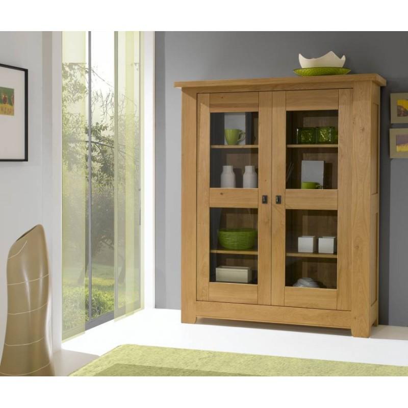 vitrine whitney en ch ne massif. Black Bedroom Furniture Sets. Home Design Ideas
