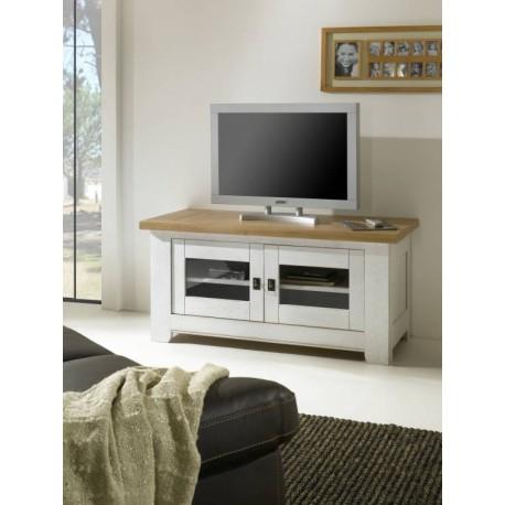 meuble tv rustique 2 portes vitr es. Black Bedroom Furniture Sets. Home Design Ideas