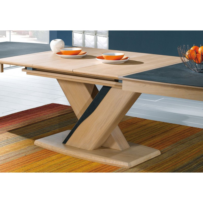Table tonneau plateau c ramique meubles rigaud for Table design plateau ceramique