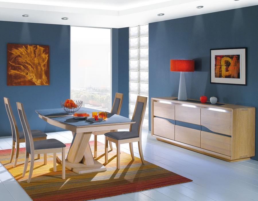 Table tonneau plateau c ramique meubles rigaud - Tendance deco salle a manger ...