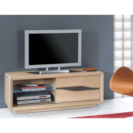 Meuble tv ceram ch ne massif meubles rigaud for Meuble tv chene contemporain