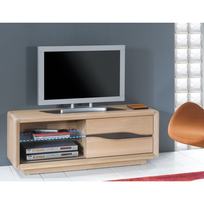 Meuble tv chene massif contemporain meuble tv plasma for Contemporain meuble