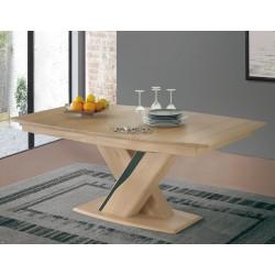 Table tonneau plateau bois Ceram