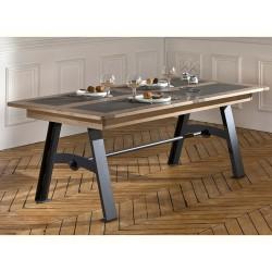 Table de repas pieds métal 170 cm Talos