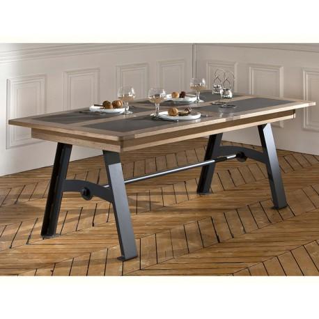 Table Deauvil pieds métal