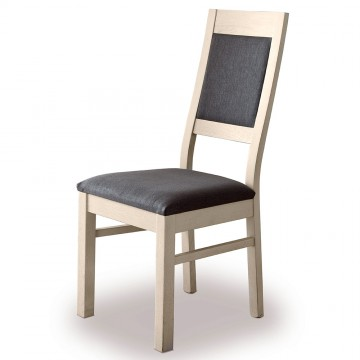 Chaise assis et dossier tissu gris foncé Romance