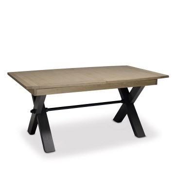Table Magellan style Atelier plateau bois 170cm