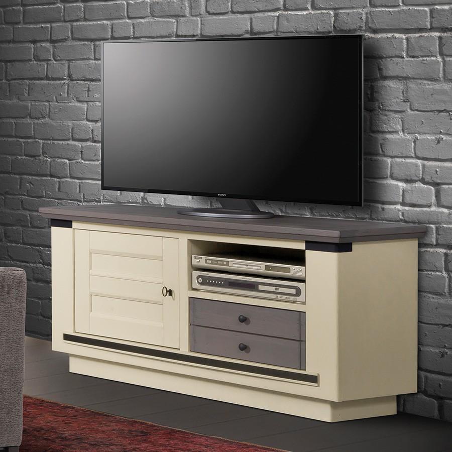 Petit meuble tv magellan 100 ch ne massif - Meuble tv petit ...
