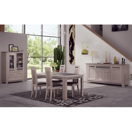 Table tonneau 160x100 avec plateau céramique
