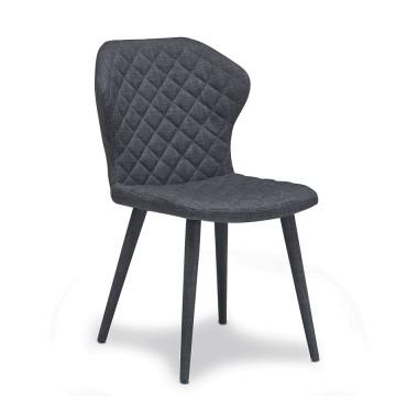 Chaise tissu gris foncé Belem
