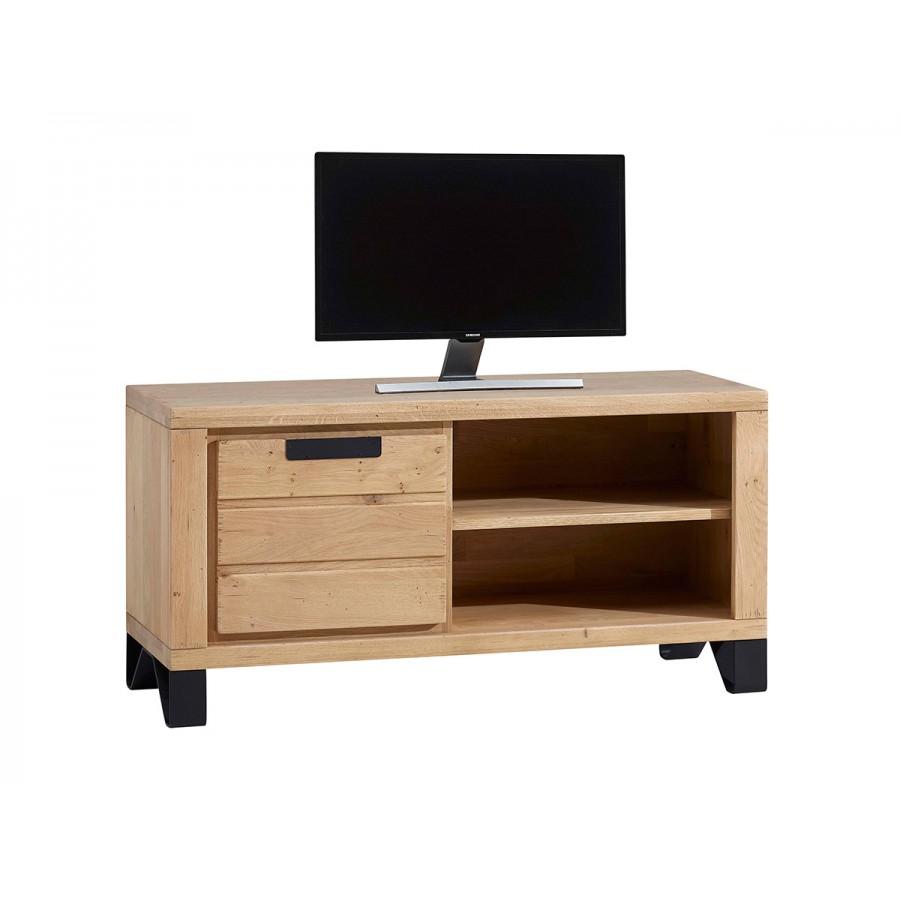 Petit meuble tv hudson 100 ch ne massif - Meuble tv petit ...