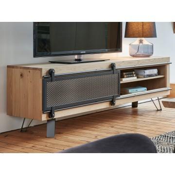 Meuble TV Fusion moyen modèle 1 porte métal coulissante