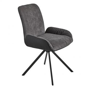 Chaise pivotante grise