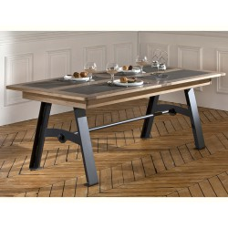 Table de repas pieds métal 200 cm Talos