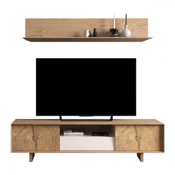 Meuble TV bas Naura 195 cm