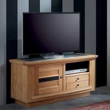 Meuble TV 1 porte 1 tiroir 1 niche Belem 124 cm