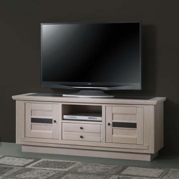 Meuble TV 2 portes 1 niche 1 tiroir Belem 160 cm
