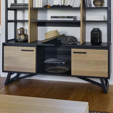 Meuble TV 2 portes 1 niche 150 cm Nomade