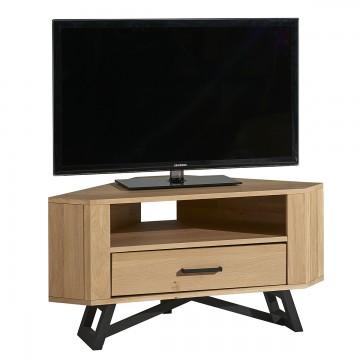 Meuble TV d'angle 1 tiroir 1 niche Nomade