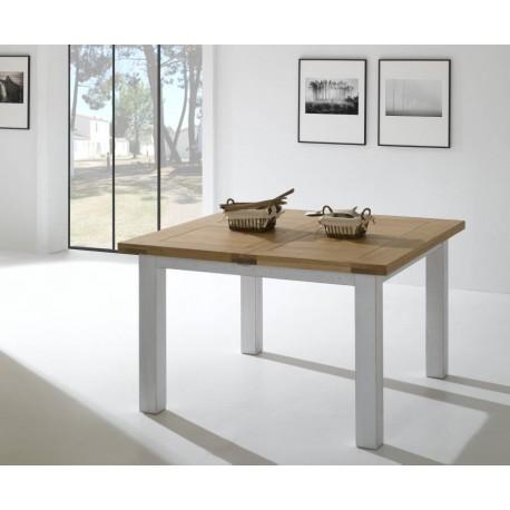 Table carrée chêne massif 125