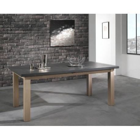 Table rectangulaire en chêne massif Whitney