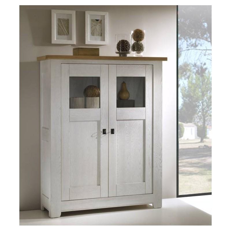 biblioth que ferm e en ch ne massif whitney. Black Bedroom Furniture Sets. Home Design Ideas