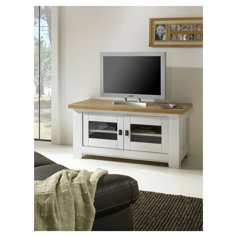 Meuble Tv Rustique 2 Portes Vitrees