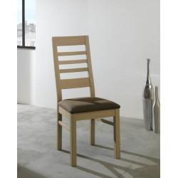 Chaise assis tissu gris foncé Whitney