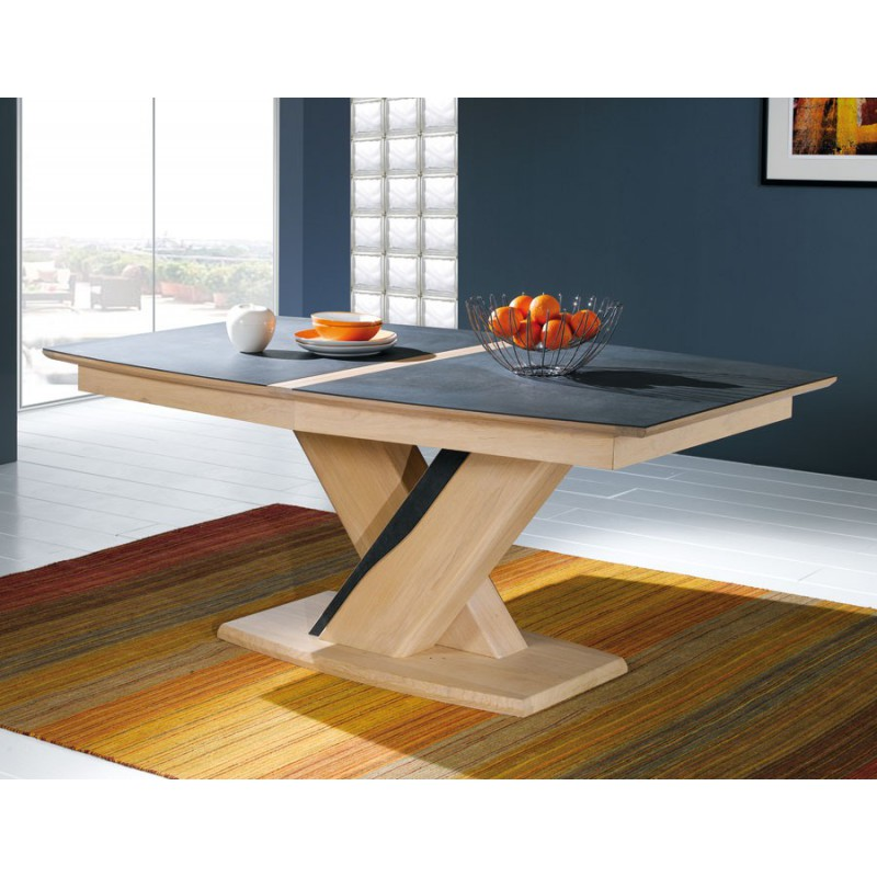 Table tonneau plateau c ramique meubles rigaud - Table salon dessus ceramique ...